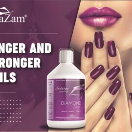 Vitazam – Diamond Elixir   Advanced Marine Collagen Type 1 & 3 for Hair Skin and Nails – 500 ml Sugar Free Collagen Drink with Hyaluronic Acid and Vitamin C – Berry Flavour Supplement